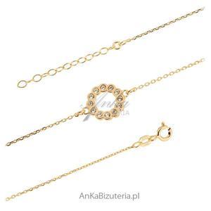 Srebrna biżuteria Bransoletka kółko z cyrkoniami - 2847085947