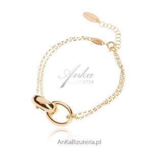 Bransoletka srebrna pozłacana Biżuteria włoska - 2835351804