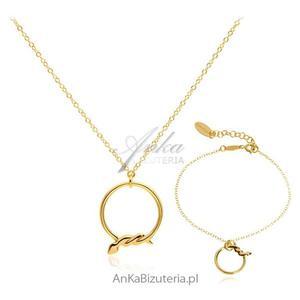 Komplet biżuterii włoskiej Srebro pozłacane - 2835352520