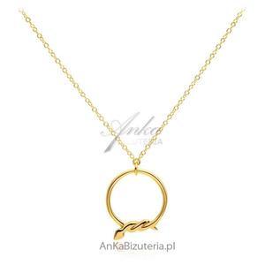 Naszyjnik srebrny pozłacany z modnym motywem węża - 2835352796
