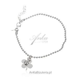 Bransoletka srebrna Biżuteria damska - 2835351759