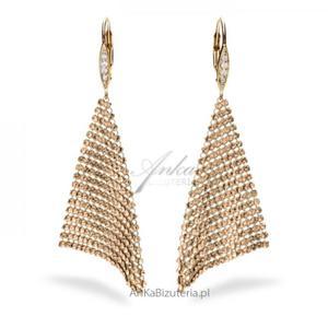 Kolczyki Swarovski Elegance Golden Shadow - 2835352410
