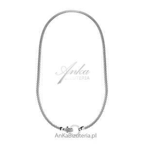 Naszyjnik srebrny Swarovski - Modna biżuteria włoska - 2849833946