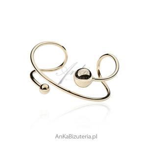Bransoletka srebrna pozłacana - biżuteria włoska - 2836105818