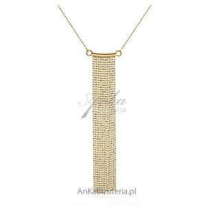 "Biżuteria srebrna: Naszyjnik srebrny pozłacany ""Kleopatra"" - 2836349955"