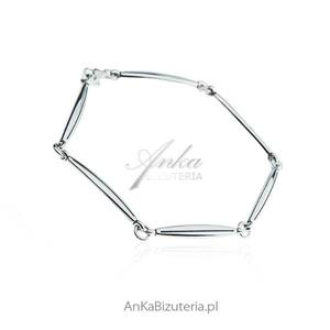Modna biżuteria damska - Bransoletka srebrna pałeczki - 2836349968
