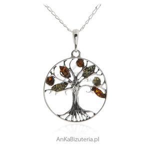 Bizuteria srebrna - Drzewko szczęścia z bursztynem - 2837901333