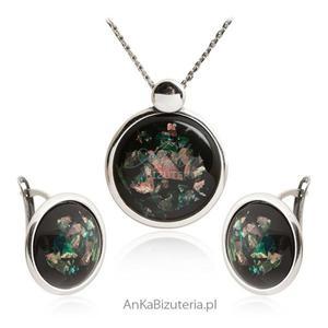 Komplet biżuterii srebrny z opalem - 2841414734