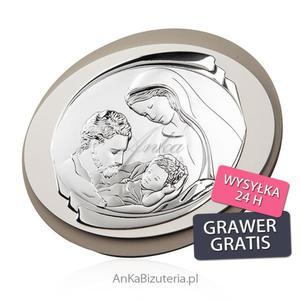 Dewocjonalia - Pamiątka srebrna Święta Rodzina - 2849833928