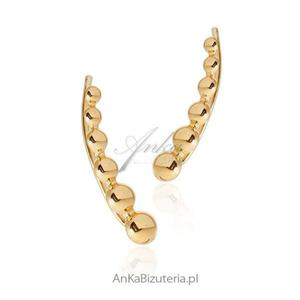 Srebrne nausznice kolczyki srebrne pozłacane - 2842732739