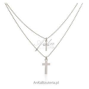 Modna biżuteria damska Naszyjnik z krzyżykami - 2844381592