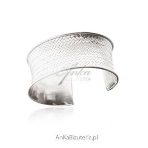 Piękna bransoletka srebrna Szeroka bransoletka - 2847557208