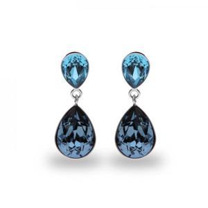 Kolczyki srebrne z kryształami Swarovski KOLCZYKI PERA - 2848115807