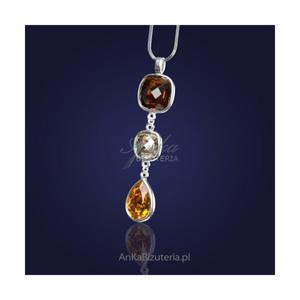 Biżuteria Naszyjnik srebrny z kryształami Swarovski - 2835351580
