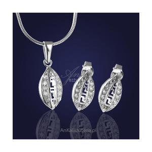 """Komplet biżuterii srebrnej: """" Zjawiskowe Greckie Cyklady"""" - 2835352498"""