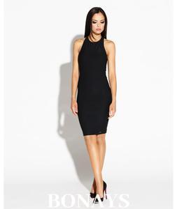 b21af83d47 Dopasowana sukienka z odkrytymi plecami SITRU - czarna 084-Czarny  084-Czarny