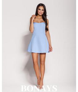 a945da7a99 Gorsetowa sukienka Fabi -niebieska 136-Niebieski 136-Niebieski