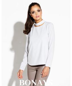 Elegancka bluzka z długim rękawem w kolorze...