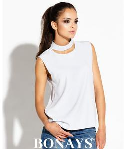 Elegancka bluzka na rami - 2859493668