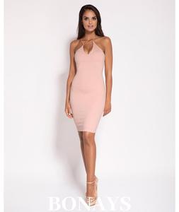 9c864227f2 Dopasowana sukienka Sila - różowa 144-Różowy 144-Różowy