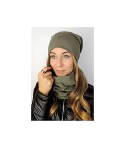 Komplet damski czapka i komin w kolorze khaki c3-khaki c3-khaki, Rozmiar: Uniwersalny Wysy - 2859495986