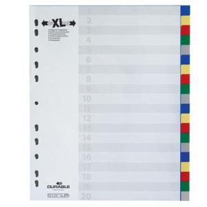 Przekładki A4 wykonane z PP kolorowe indeksy 20 części poszerzone 675927 - 2832519315