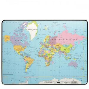 Podkład na biurko z mapą świata 530x400mm 7211 19 - 2832519352