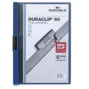 Skoroszyt zaciskowy DURACLIP Original A4 1-60 kart. granatowy A4 2209 07 - 2832518541