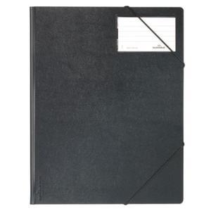 Folder na dokumenty z gumkami narożnymi 1-150 kartek PCV czarny - 2832518605