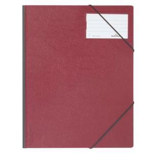 Folder na dokumenty z gumkami narożnymi 1-150 kartek PCV czerwony 232003 - 2832518606
