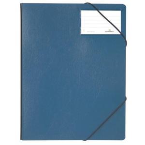 Folder na dokumenty z gumkami narożnymi 1-150 kartek PCV granatowy 232007 - 2832518607