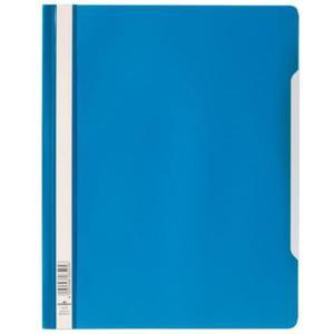 Skoroszyt A4 z przezroczystą okładką z twardej folii niebieski 2570 06 - 2832518737