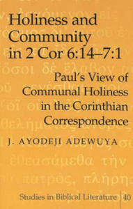 Holiness and Community in 2 Cor 6:14-7:1 - 2854468741
