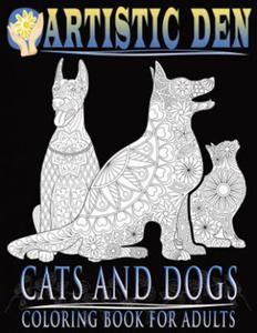 Cats and Dogs Coloring Book for Adults ( Floral Tangle Art Therapy) (Volume 2) - 2826718350