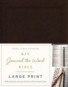 KJV, Journal the Word Bible, Large Print, Bonded Leather, Brown, Red Letter Edition - 2854485439
