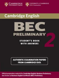 Cambridge BEC Preliminary 2 Student's Book with Answers - 2826807038