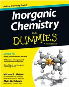 Inorganic Chemistry For Dummies - 2869457744
