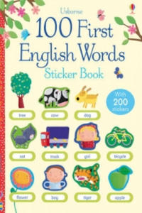 100 First Words in English Sticker Book - 2826729848