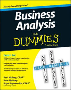 Business Analysis For Dummies - 2847571009