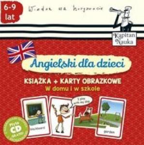 Angielski dla dzieci W domu i w szkole Ksiazka + Karty obrazkowe - 2862798875