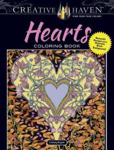 Creative Haven Hearts Coloring Book - 2836099416