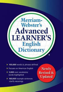 Merriam-Webster s Advanced Learner's English Dictionary - 2884756241