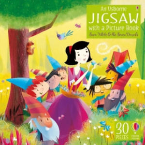An Usborne Jigsaw with a picture book Snow White and the Seven Dwarfs - 2854519834