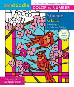 Zendoodle Color-by-Number: Stained Glass - 2858844545