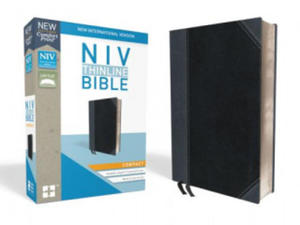 NIV, Thinline Bible, Compact, Imitation Leather, Black/Gray, Red Letter Edition - 2863862325