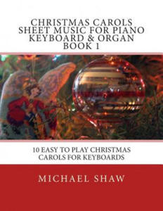 Christmas Carols Sheet Music For Piano Keyboard & Organ Book 1 - 2865235119