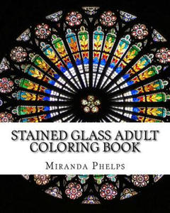 Stained Glass Adult Coloring Book - 2893462153