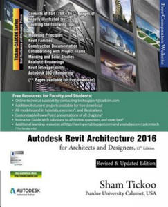 Autodesk Revit Architecture 2016 for Architects and Designers, 12th Edition - 2862059817