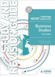 Cambridge IGCSE and O Level Business Studies Study and Revision Guide 3rd edition - 2891435952