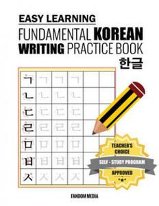 Easy Learning Fundamental Korean Writing Practice Book - 2861990836